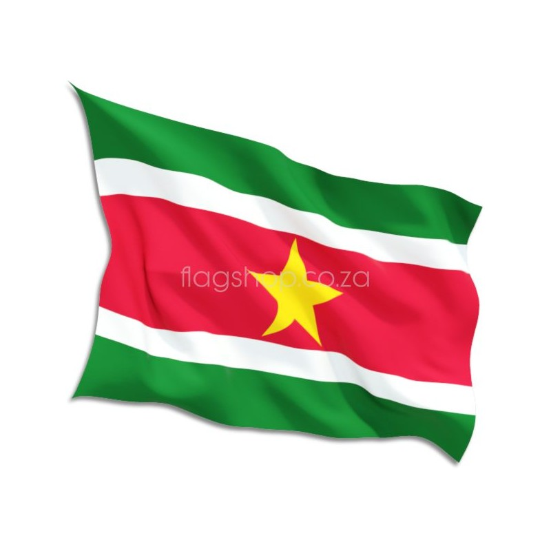 Suriname Country Flag